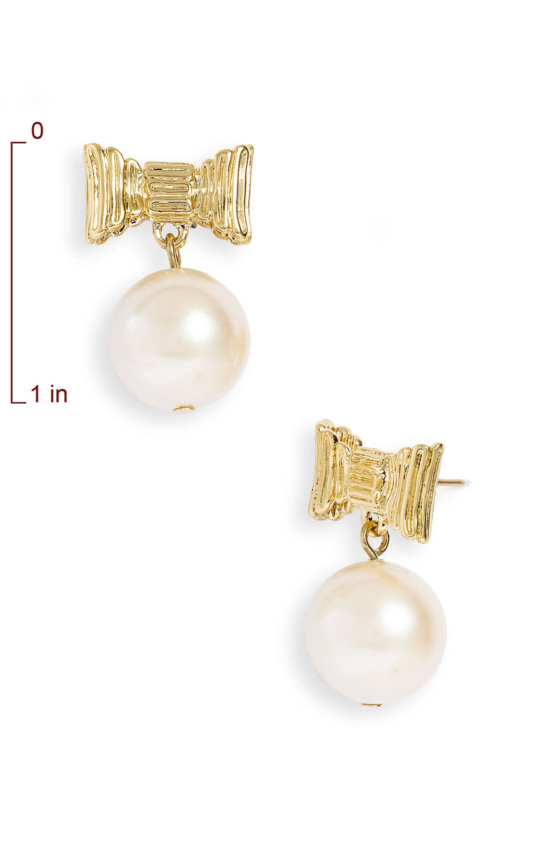 Alternate Image 2  - kate spade new york 'all wrapped up' glass pearl earrings