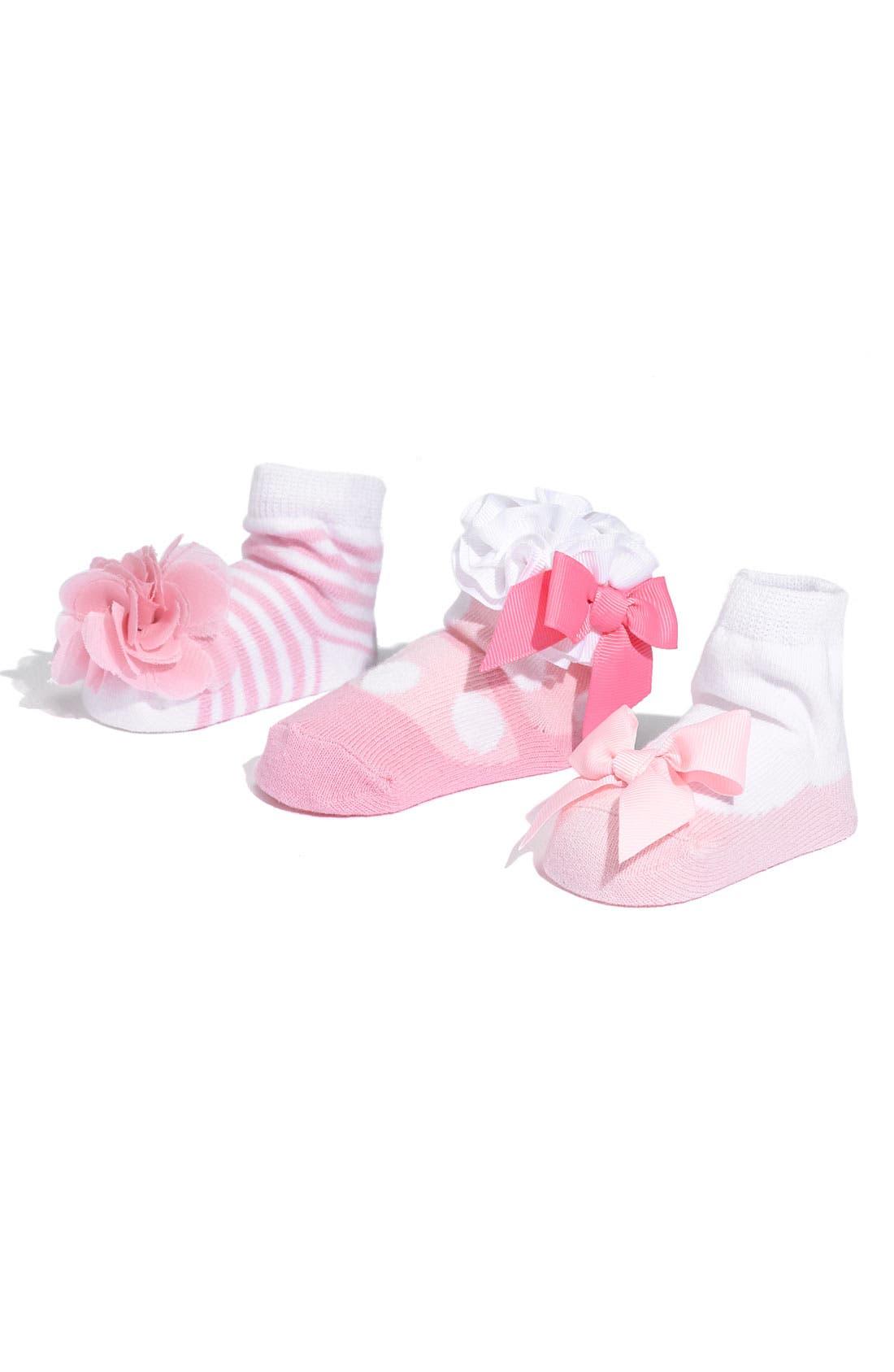 Alternate Image 1 Selected - Mud Pie Socks Set (3-Pack)(Baby Girls)