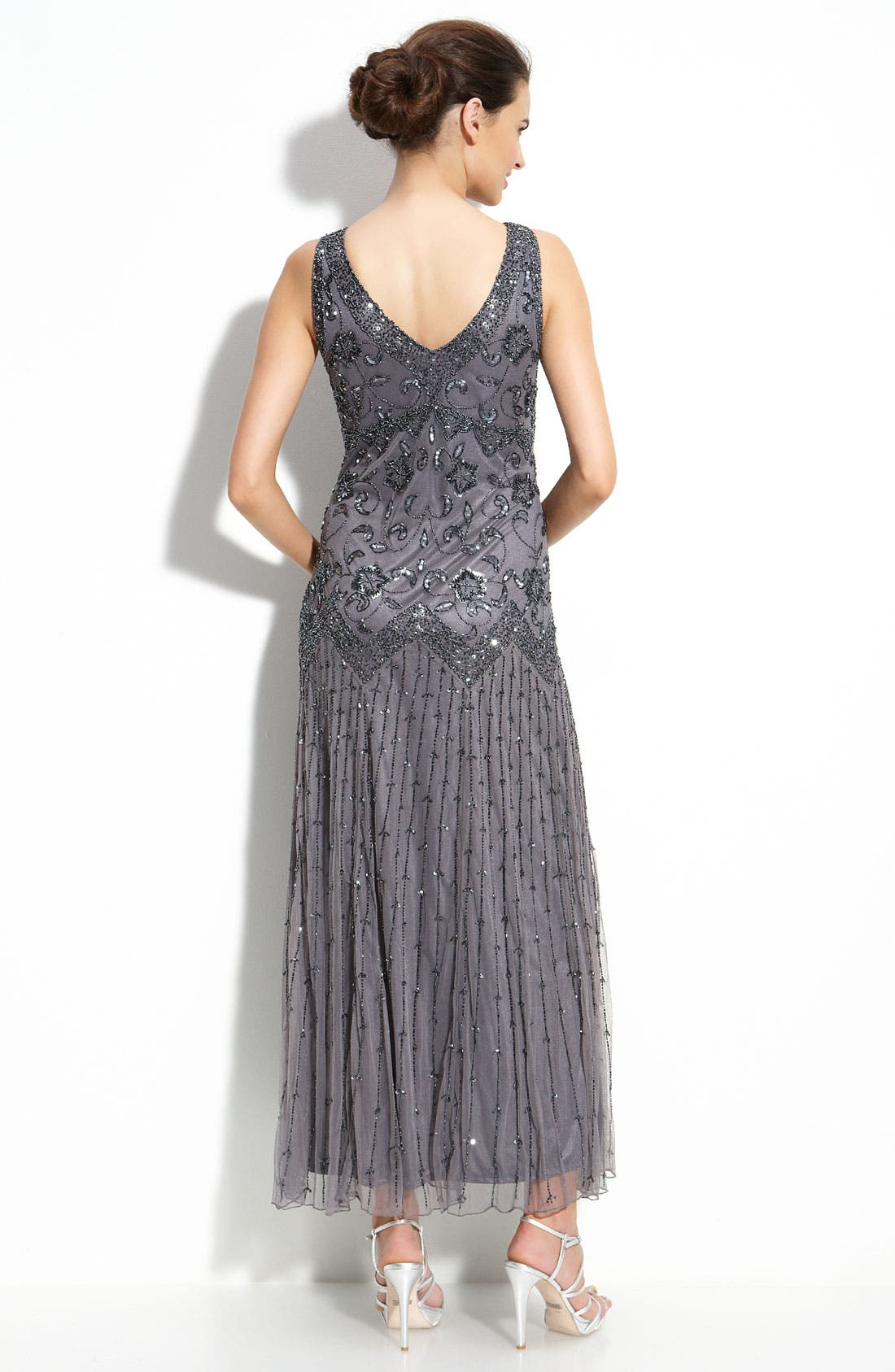 Alternate Image 2  - Pisarro Nights Beaded Mesh Dress