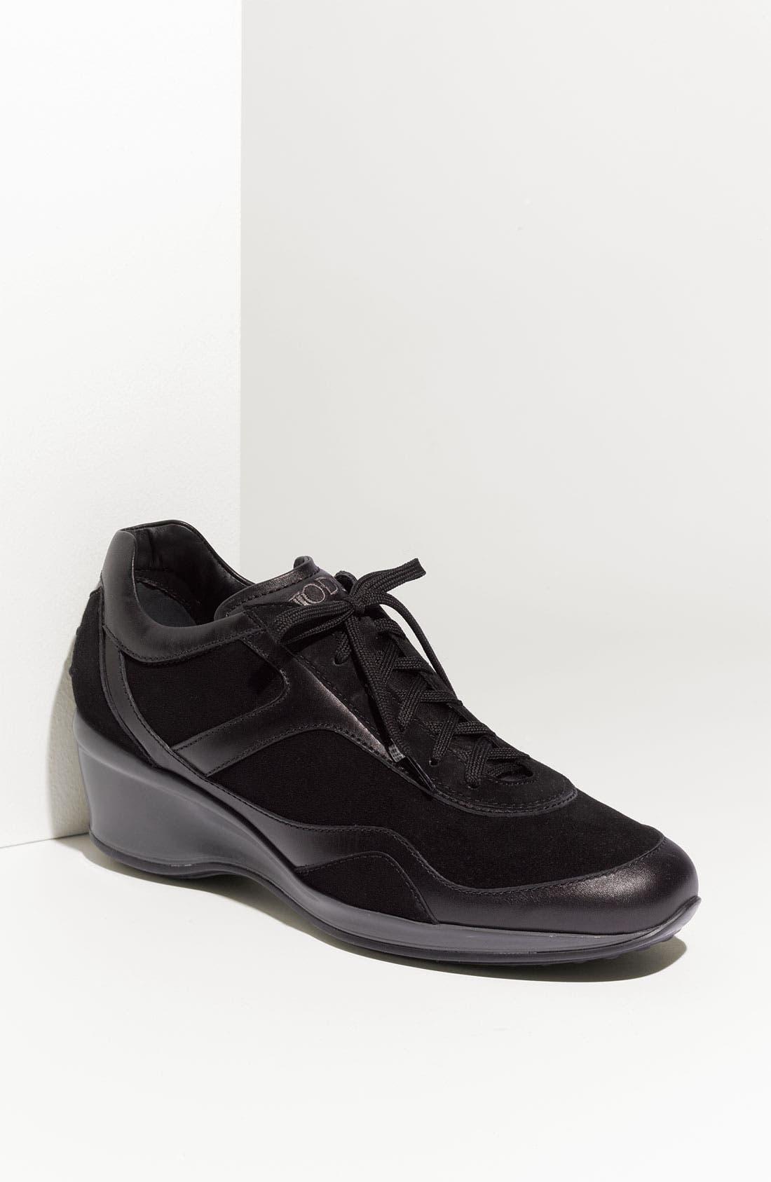 Alternate Image 1 Selected - Tod's Wedge Heel Sneaker