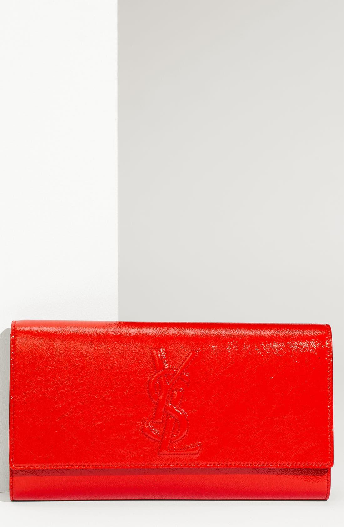 Alternate Image 1 Selected - Yves Saint Laurent 'Belle de Jour - Large' Patent Envelope Clutch