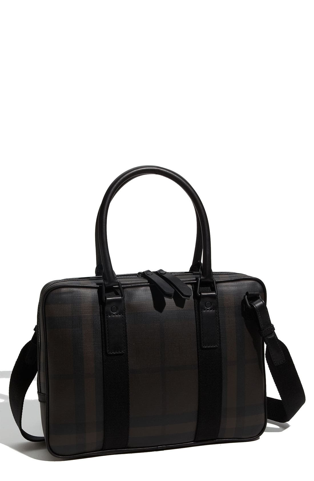 Main Image - Burberry Small Check Print Briefcase