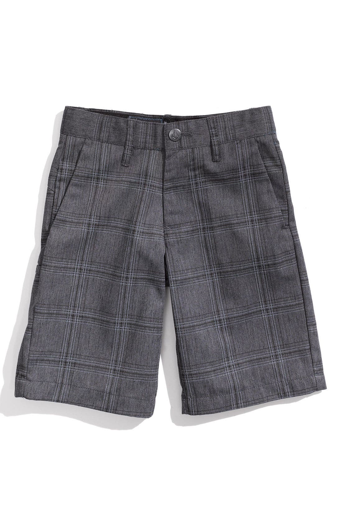 Main Image - Volcom Modern Plaid Shorts (Little Boys)