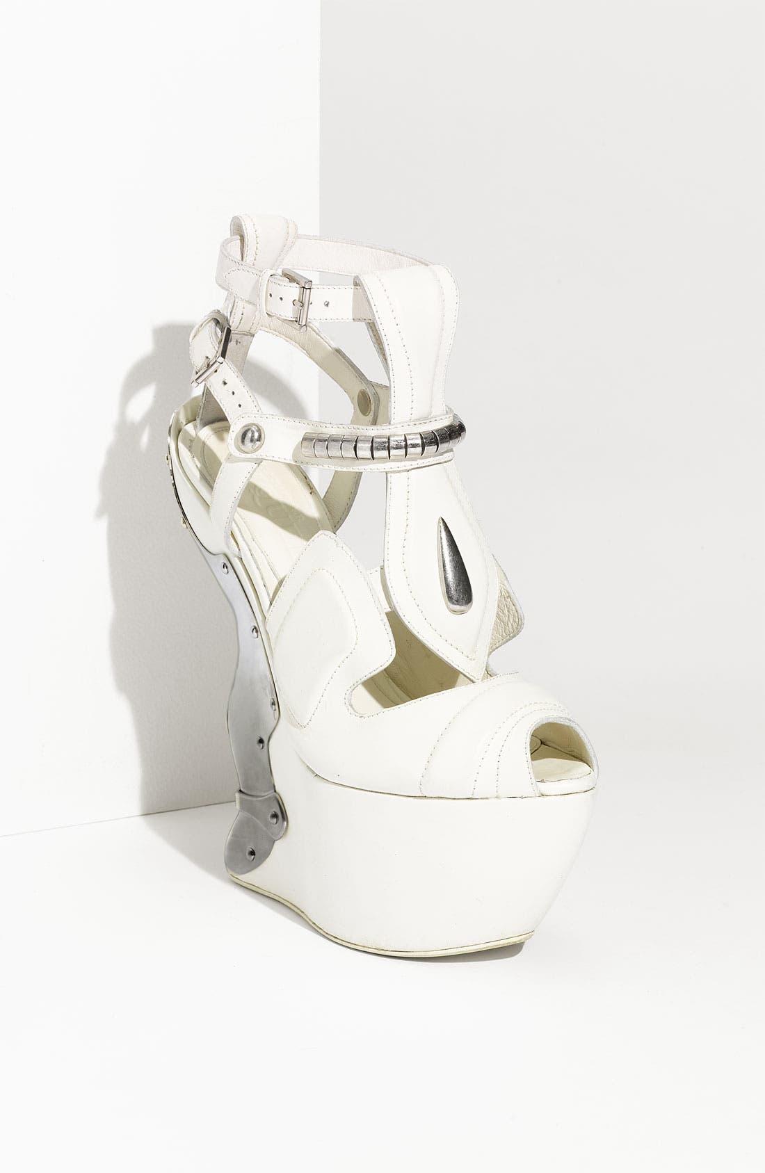 Alternate Image 1 Selected - Alexander McQueen Metal Wedge Sandal