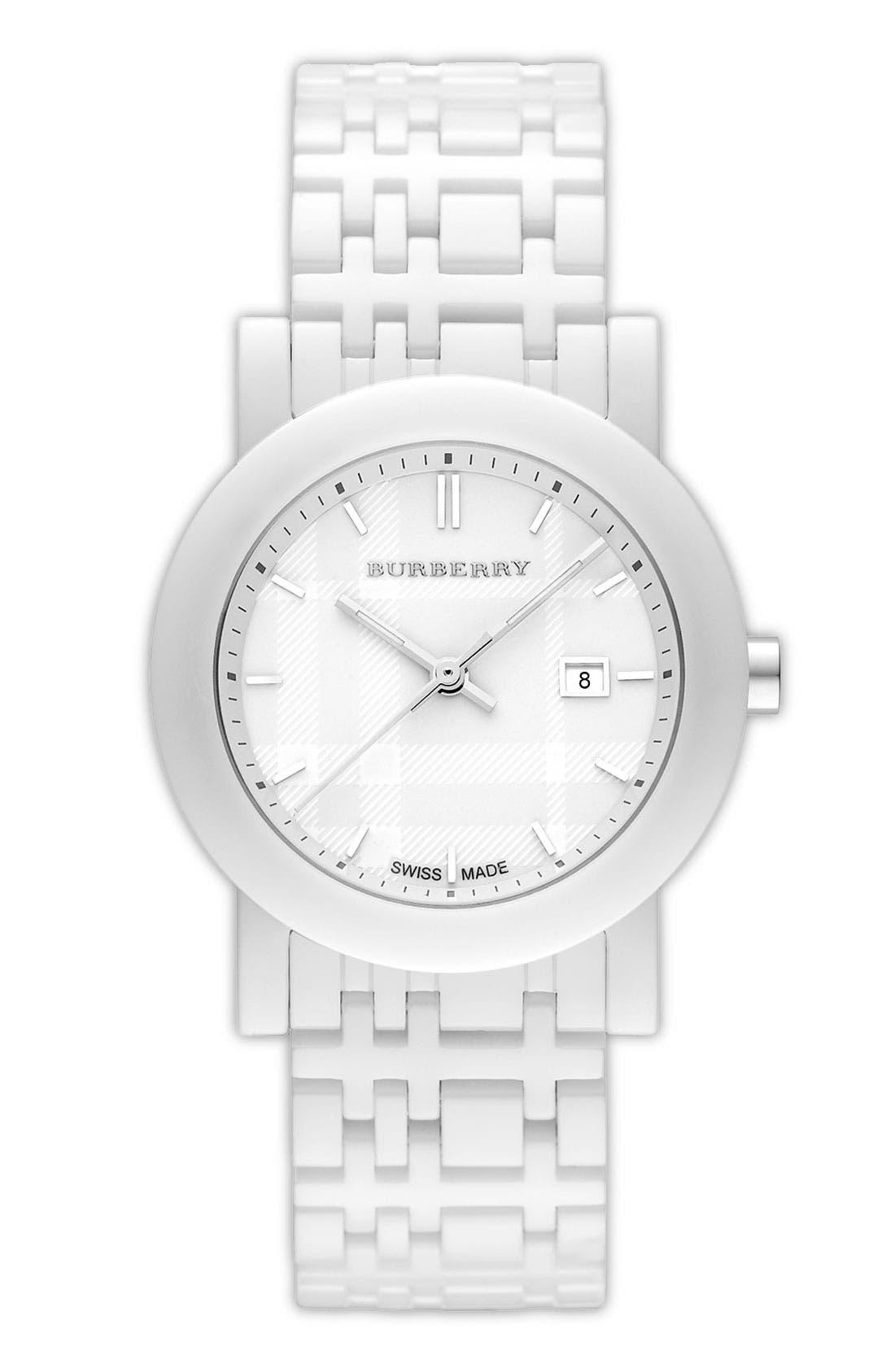 Main Image - Burberry Round Ceramic Watch