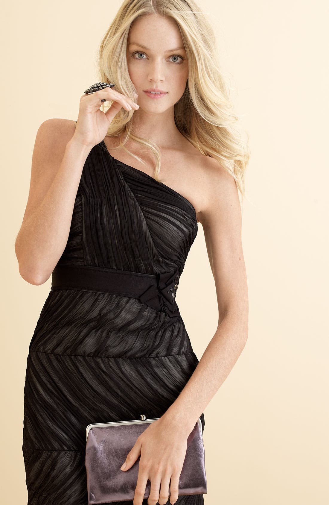 Alternate Image 3  - Max & Cleo One Shoulder Ruched Chiffon Dress