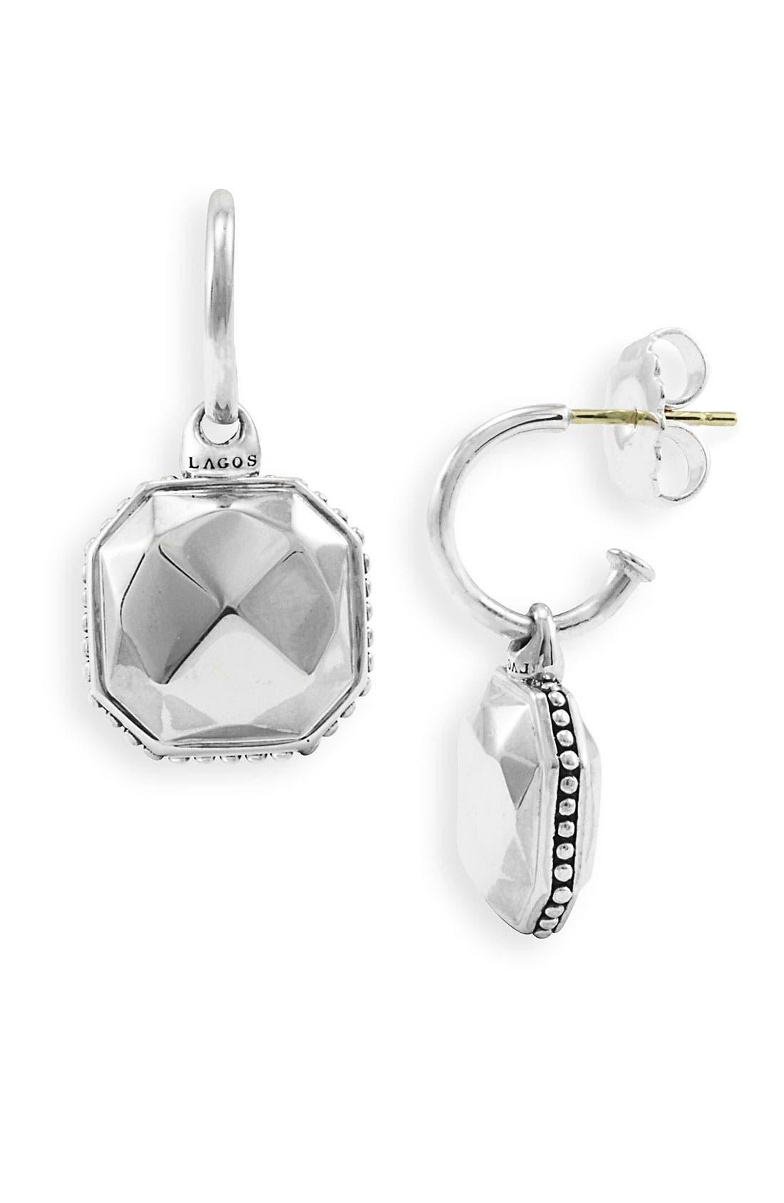 Main Image - LAGOS 'Rocks' Charm Hoop Earrings
