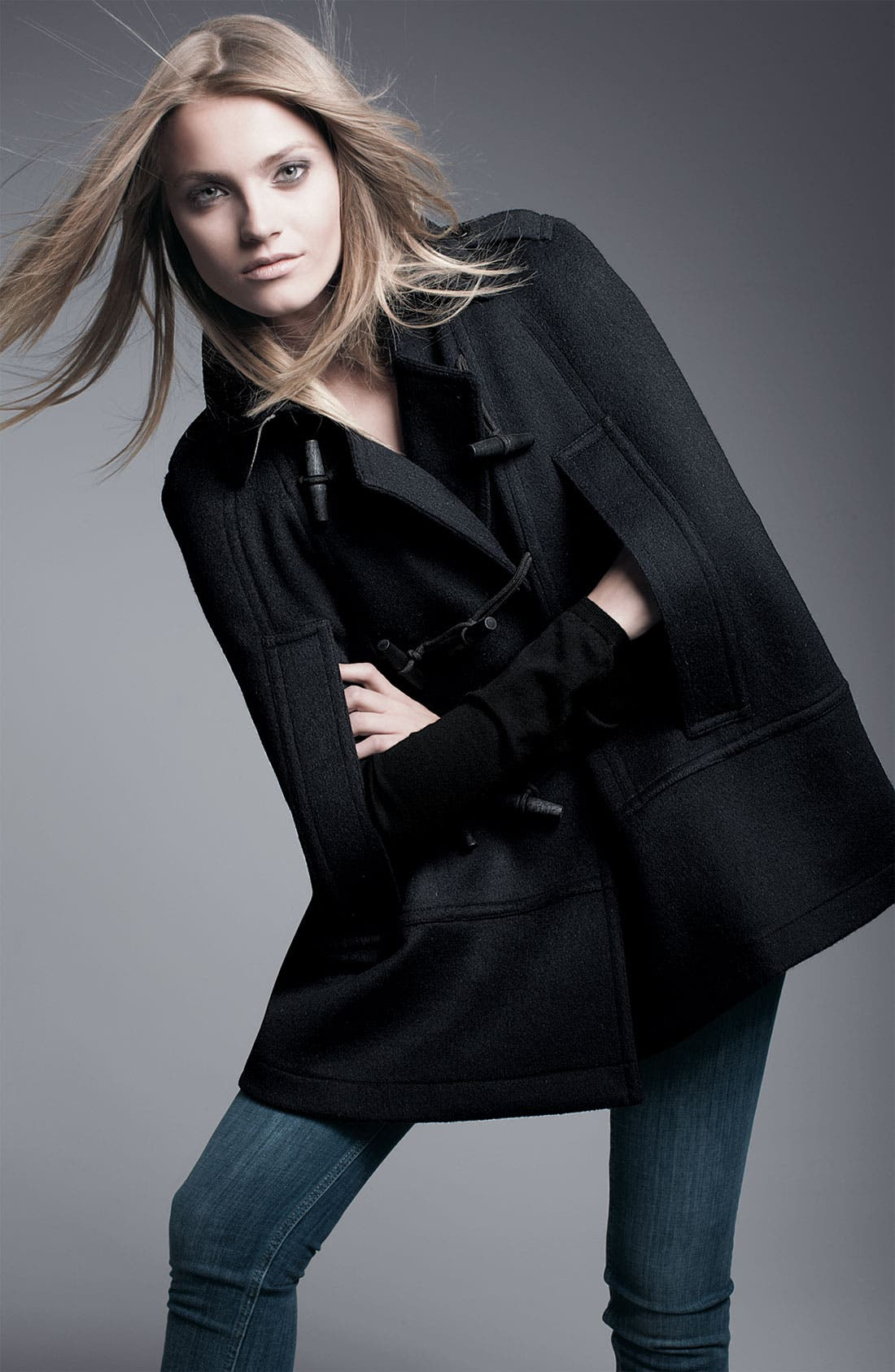 Alternate Image 3  - Burberry Brit Toggle Front Cape