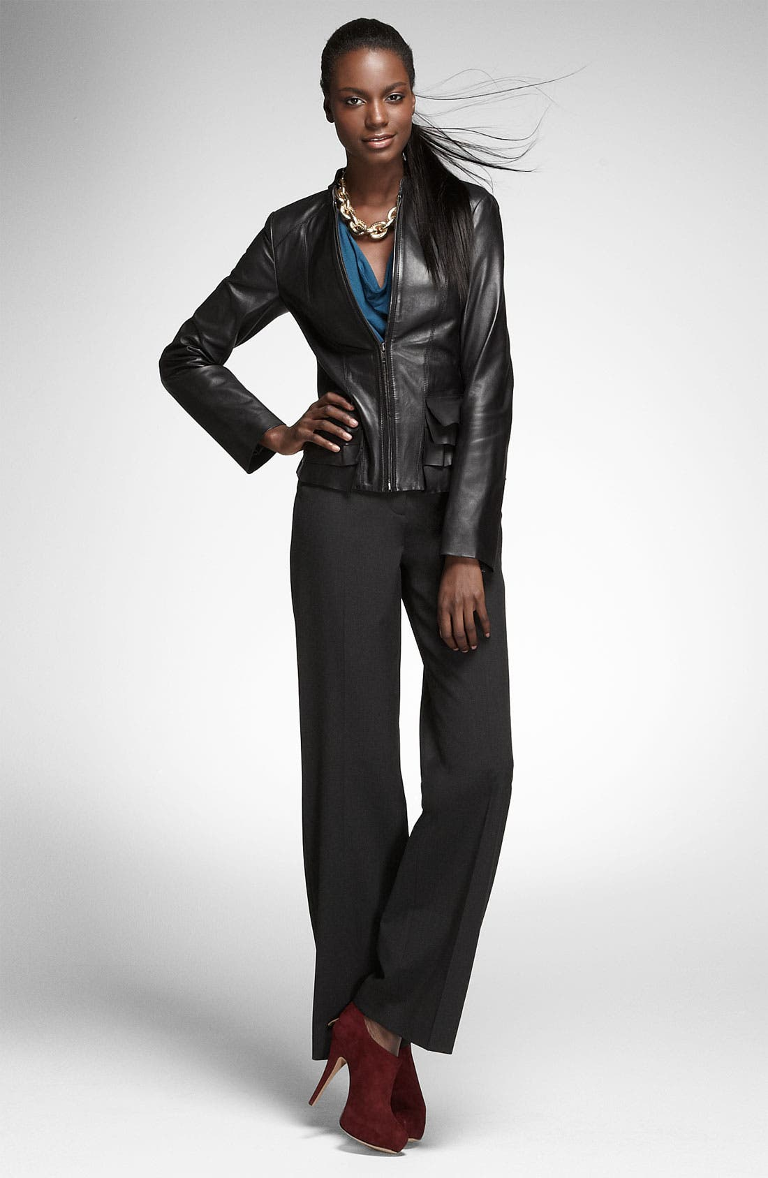 Alternate Image 2  - Halogen® 'Taylor' Curvy Fit Trousers