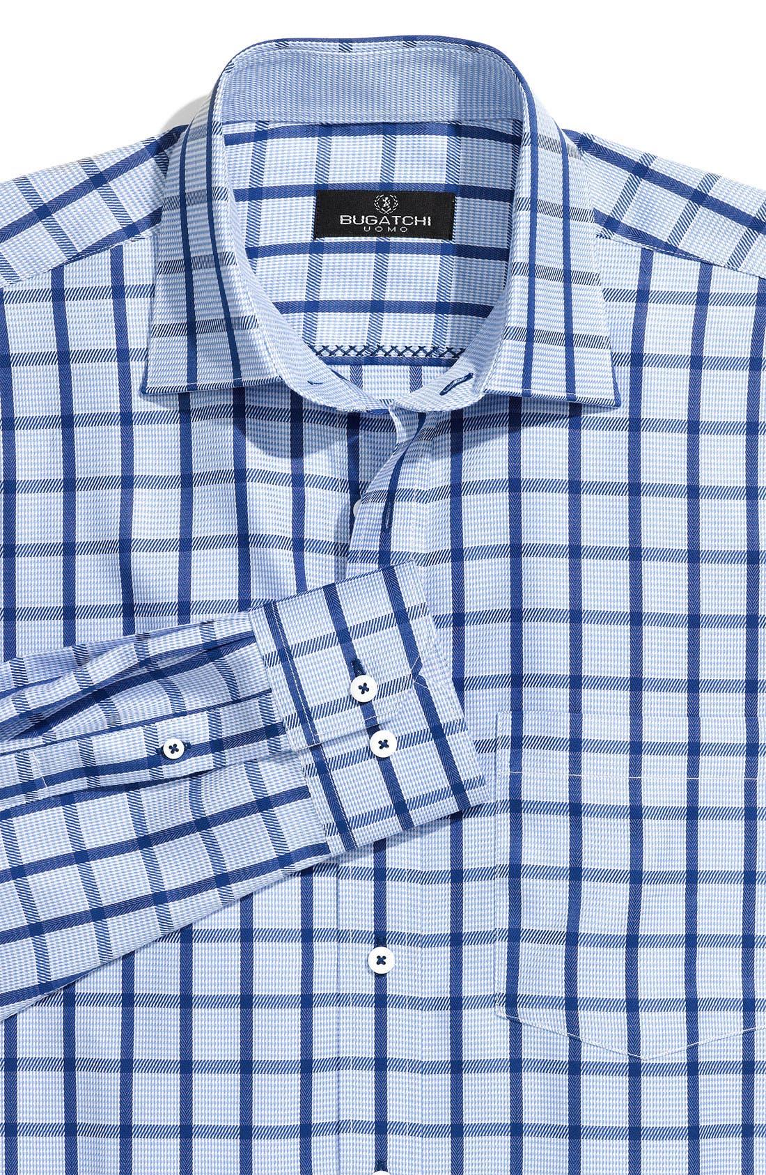 Alternate Image 1 Selected - Bugatchi Uomo Woven Sport Shirt