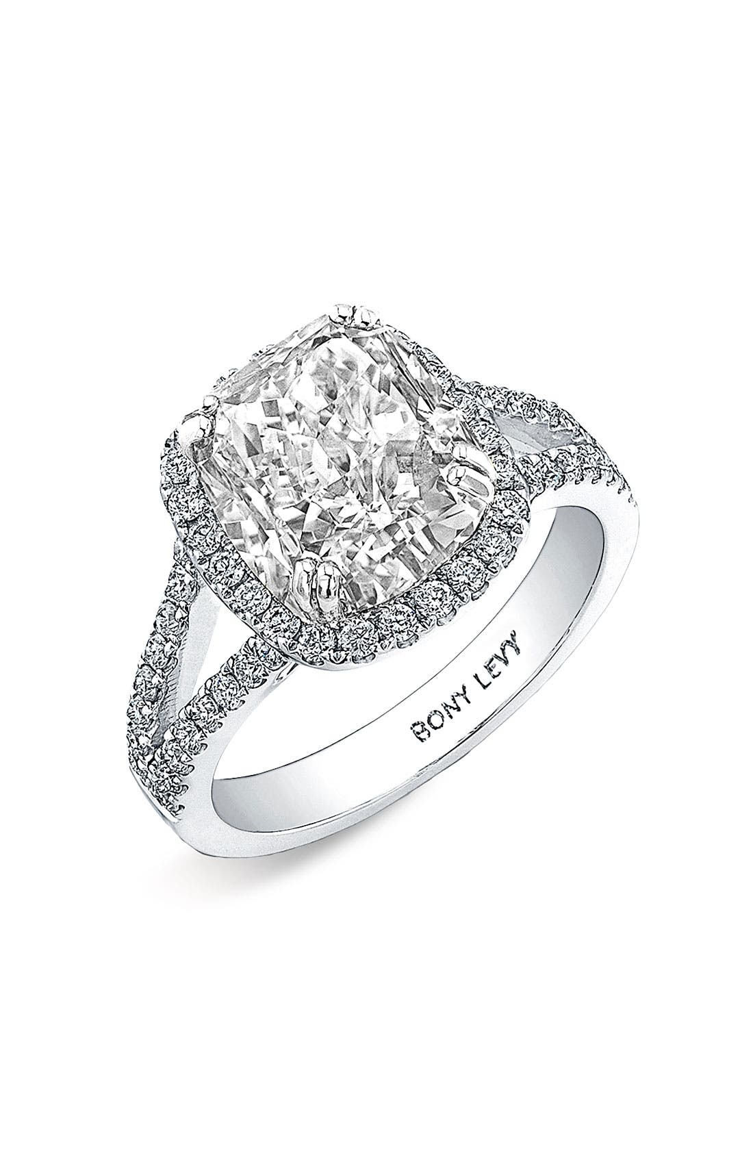 Alternate Image 1 Selected - Bony Levy Diamond Split Shank Engagement Ring Setting (Nordstrom Exclusive)