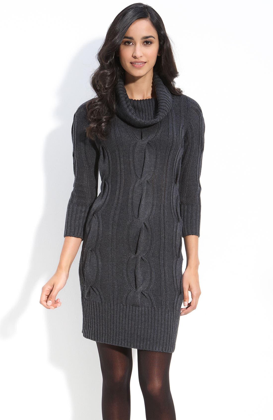 Alternate Image 1 Selected - Calvin Klein Cowl Neck Sweater Dress