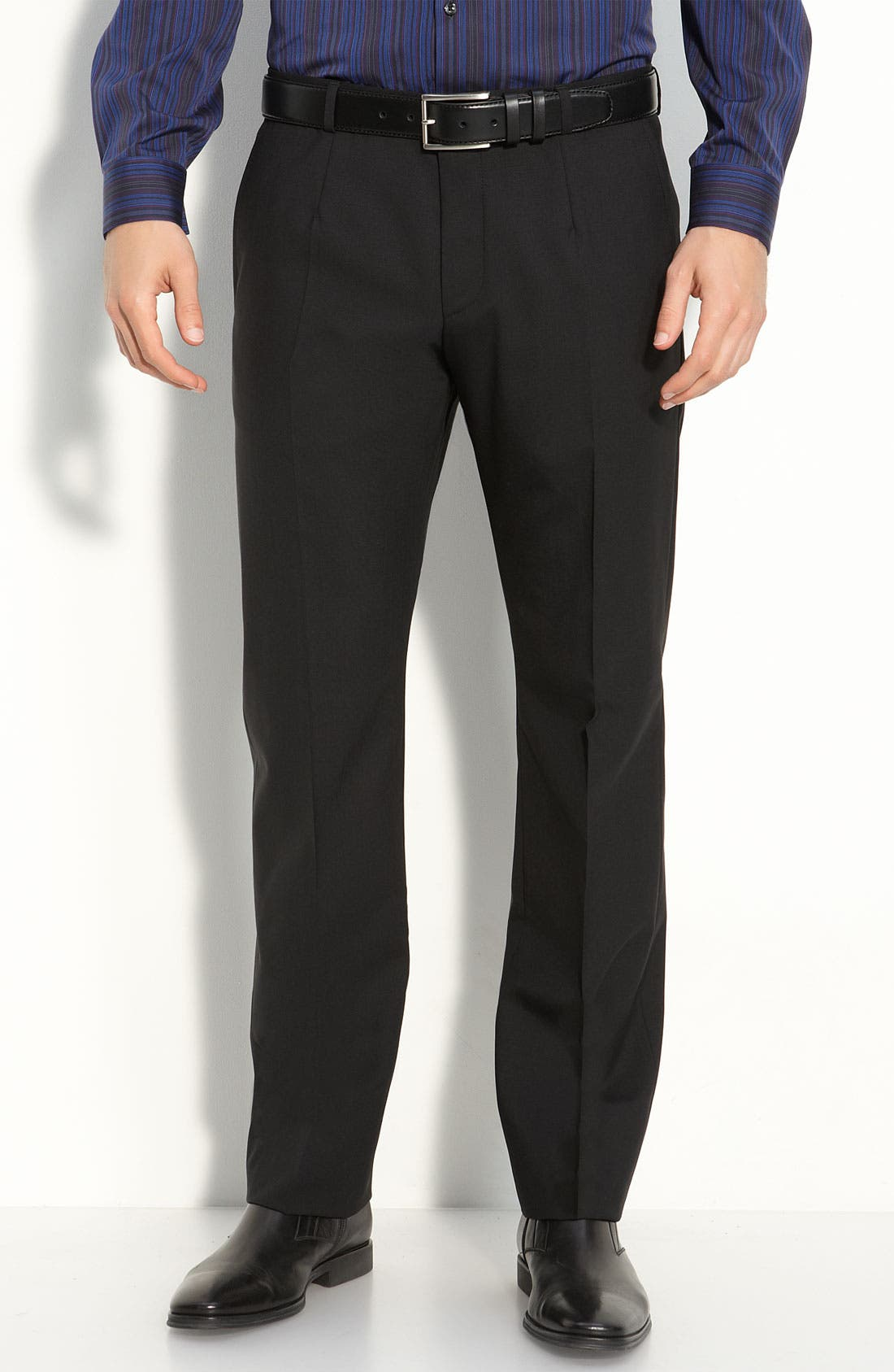 Alternate Image 1 Selected - HUGO 'Heise' Flat Front Wool Pants