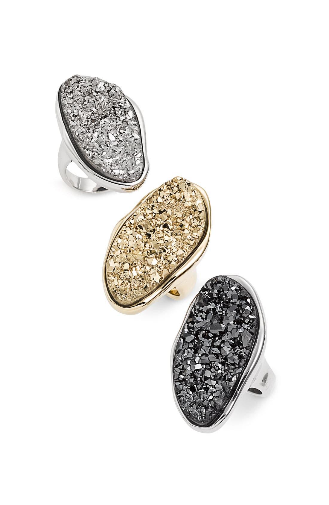 Alternate Image 2  - Marcia Moran Oval Agate Drusy Oversized Ring