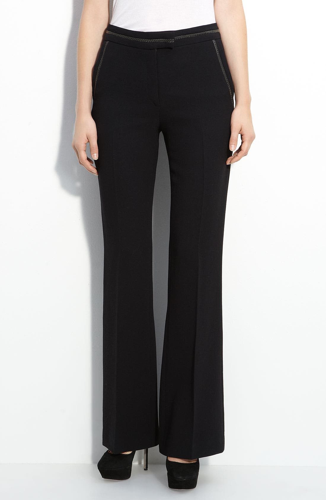 Main Image - Elizabeth and James 'Amelia' Flare Leg Wool Blend Trousers