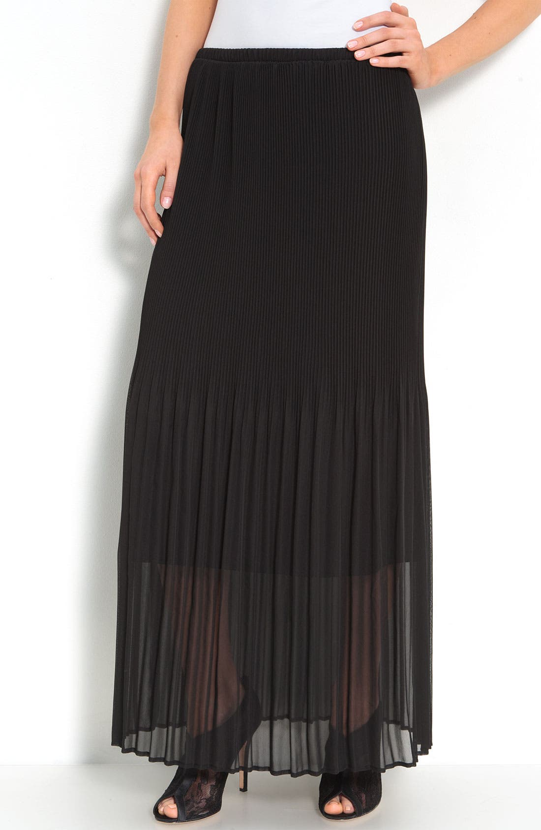 Alternate Image 1 Selected - Bobeau Chiffon Overlay Skirt