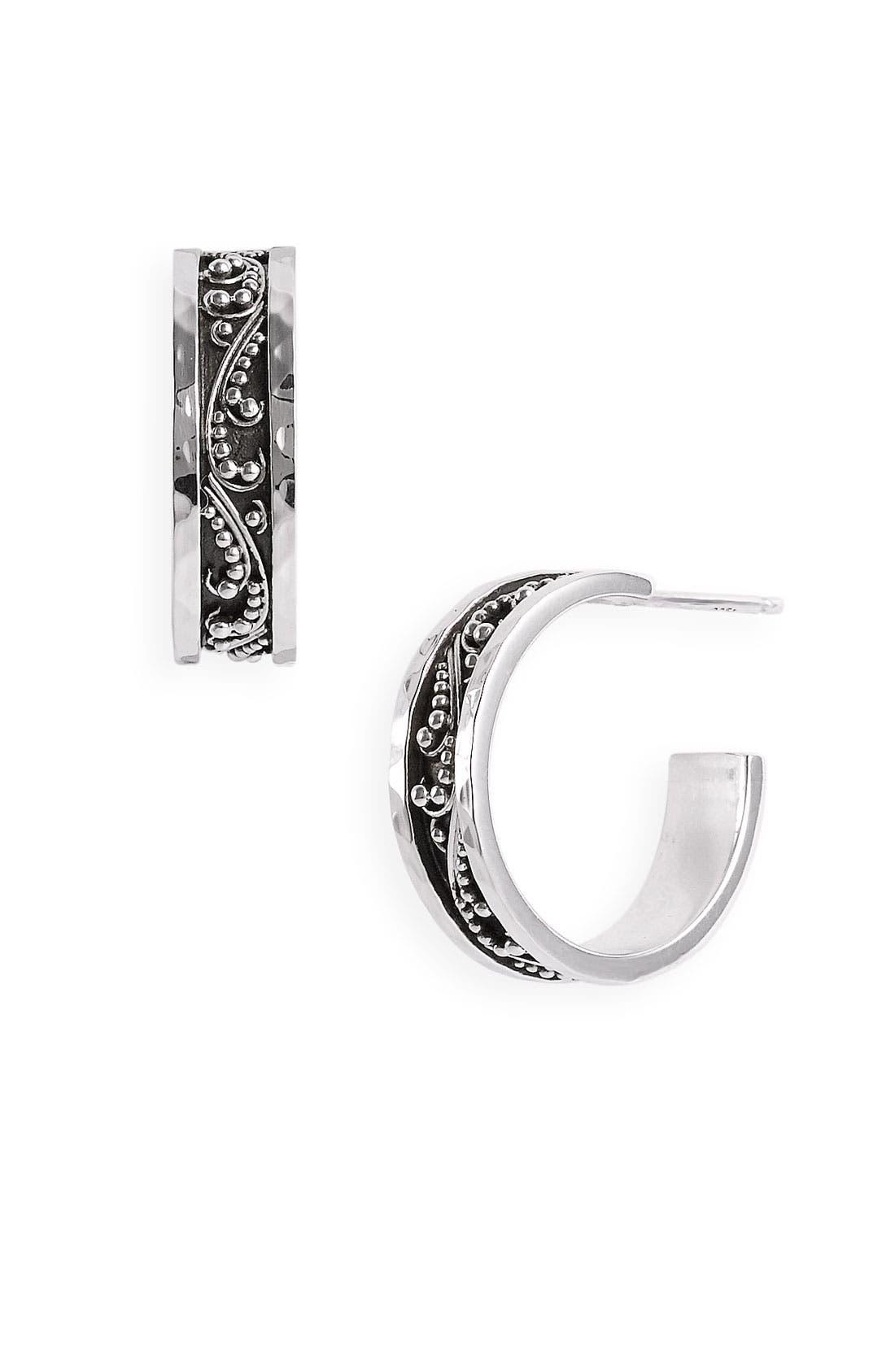 Main Image - Lois Hill 'Classics' Small Granulated Hoop Earrings