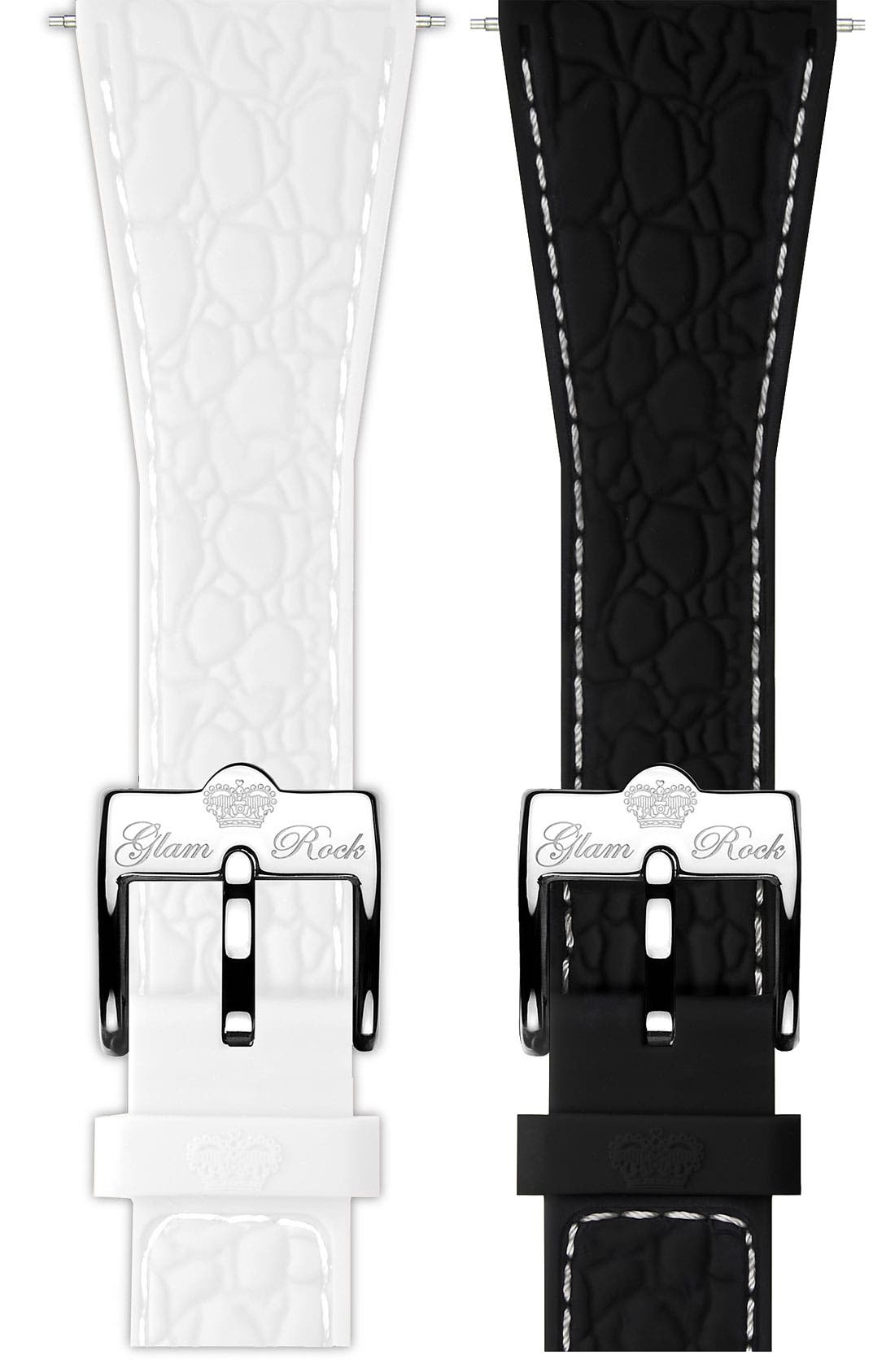 Alternate Image 1 Selected - Glam Rock 22mm Silicone Strap