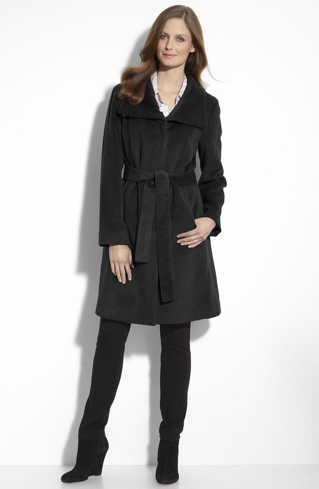 Alternate Image 1 Selected - Calvin Klein Belted Coat