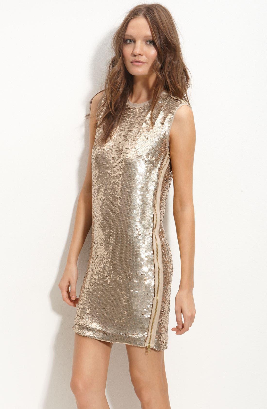 Main Image - Robert Rodriguez Zip Trim Sequin Dress