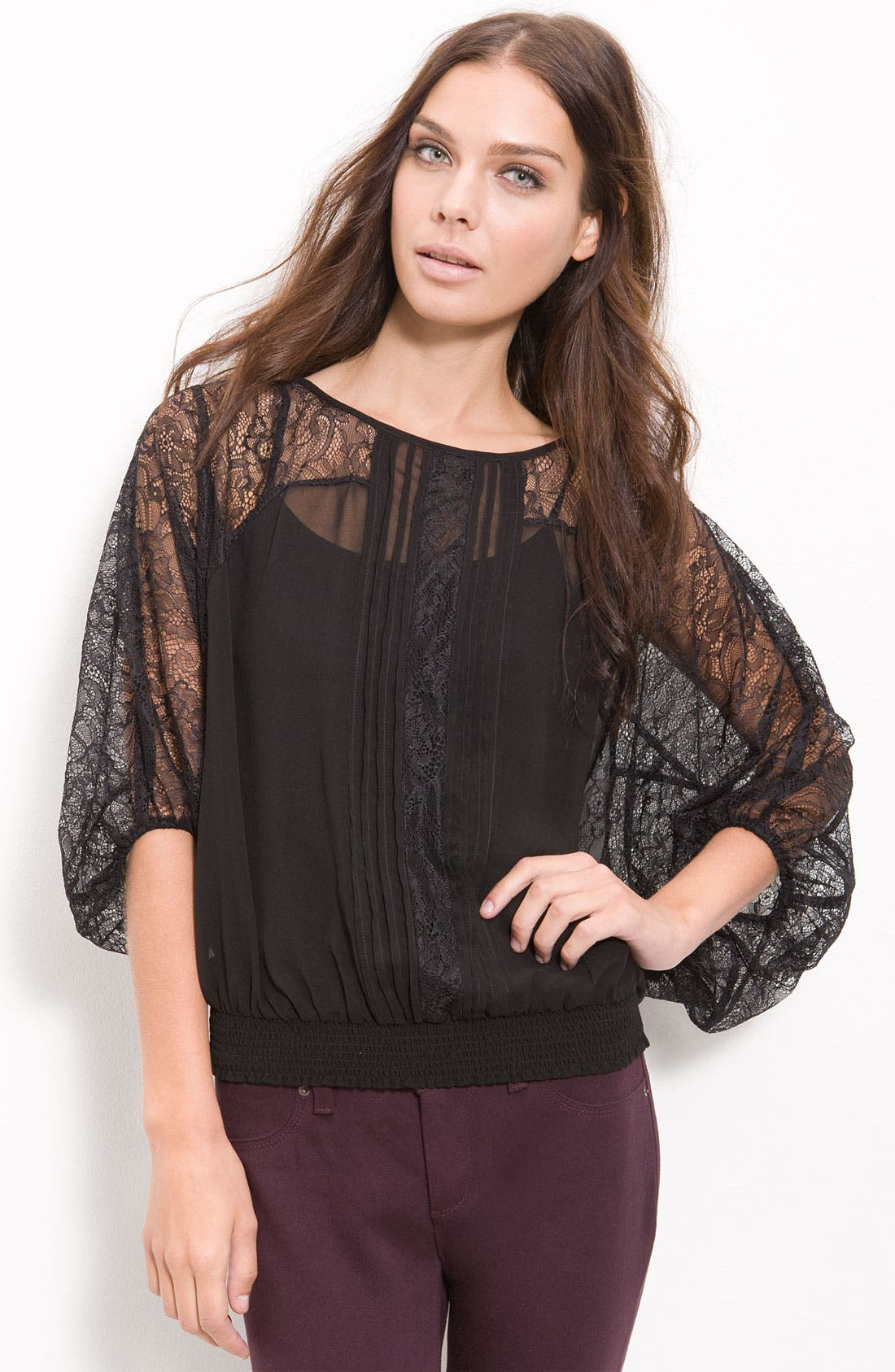Alternate Image 1 Selected - Bellatrix Lace & Chiffon Top