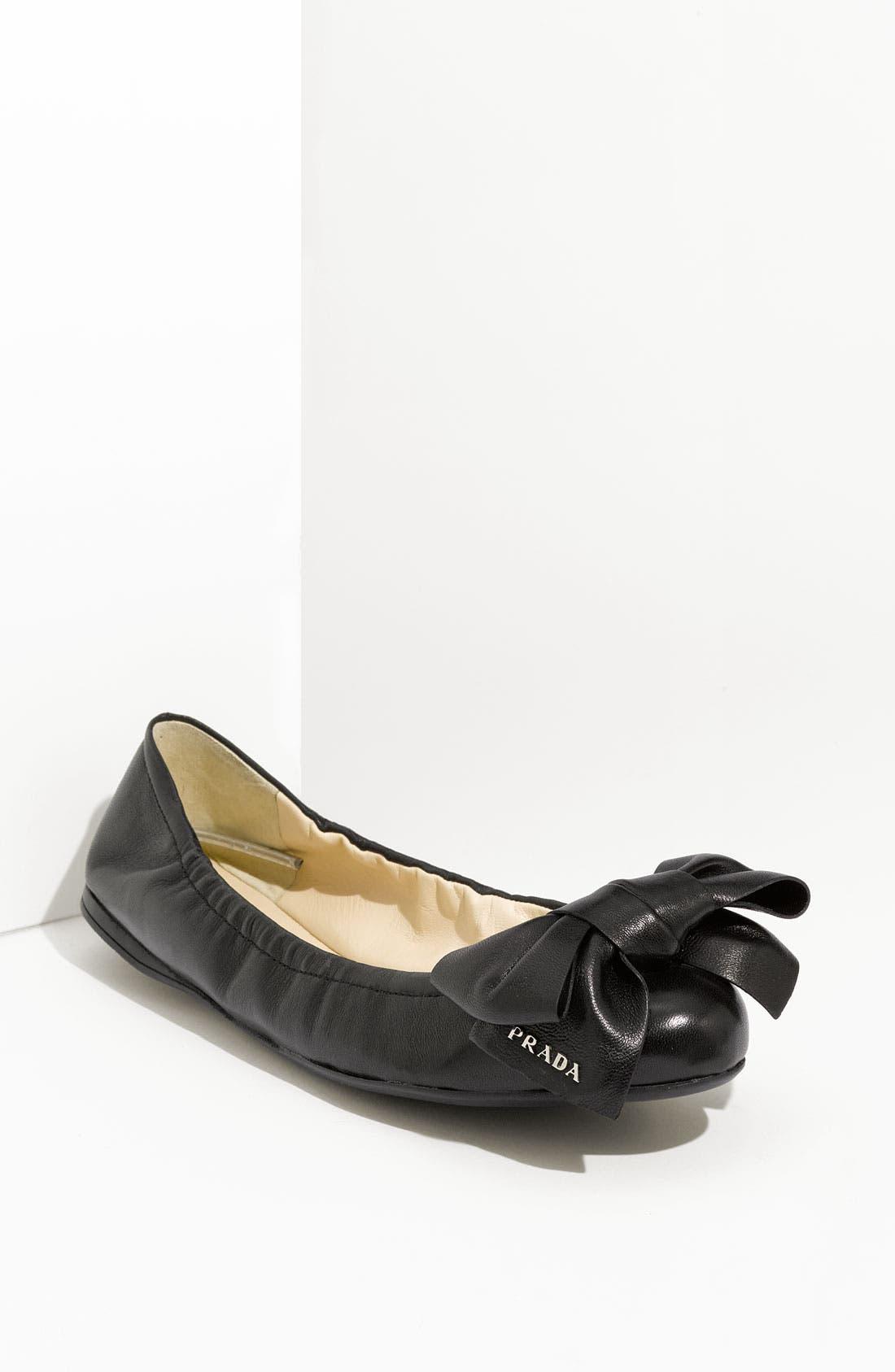Main Image - Prada Bow Ballerina Flat