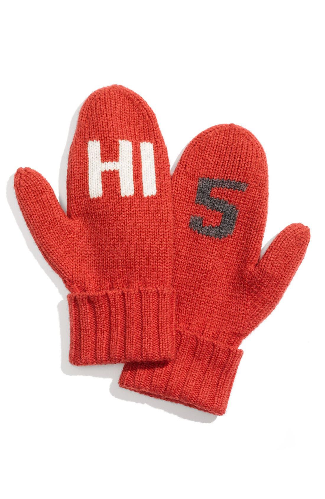 Alternate Image 1 Selected - kate spade new york 'hi 5' mittens