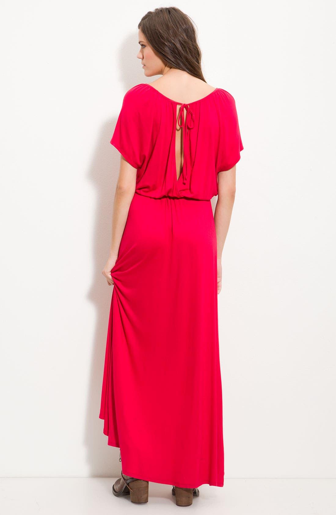 Alternate Image 2  - Ella Moss 'Girl's Best Friend' Slit Back Maxi Dress