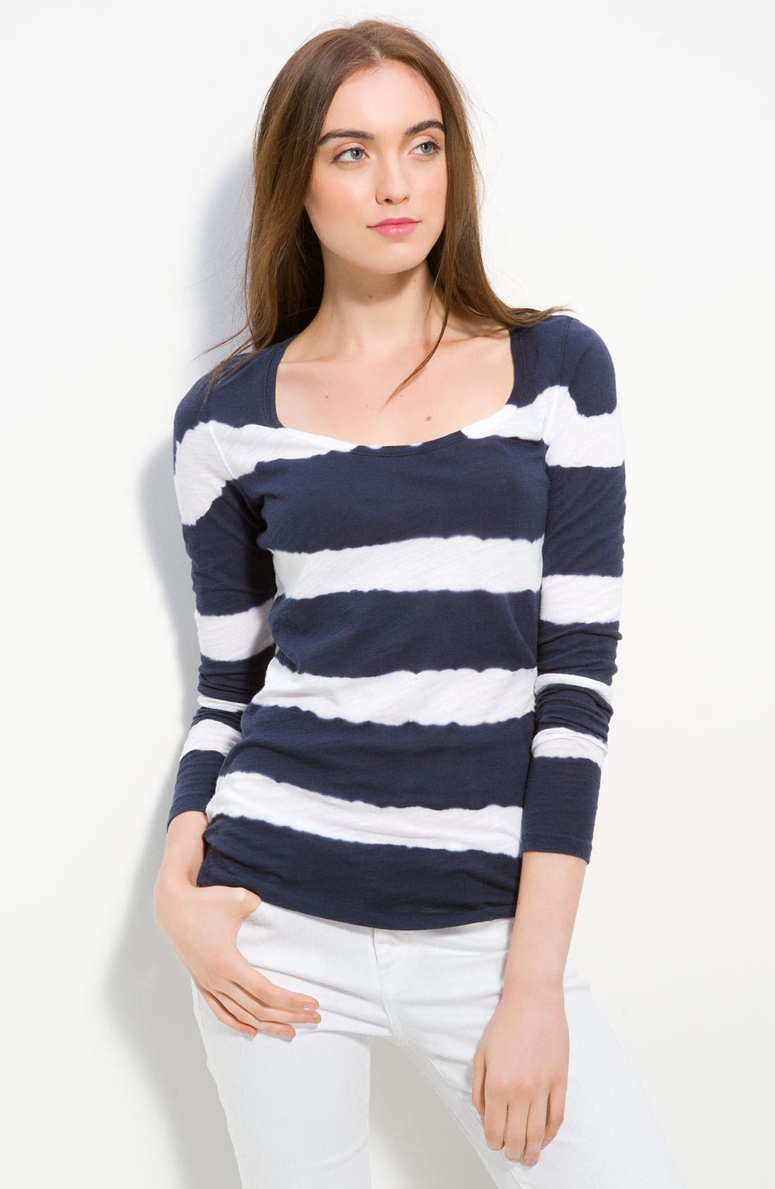 Alternate Image 1 Selected - Lucky Brand 'Painted Stripe' Tee