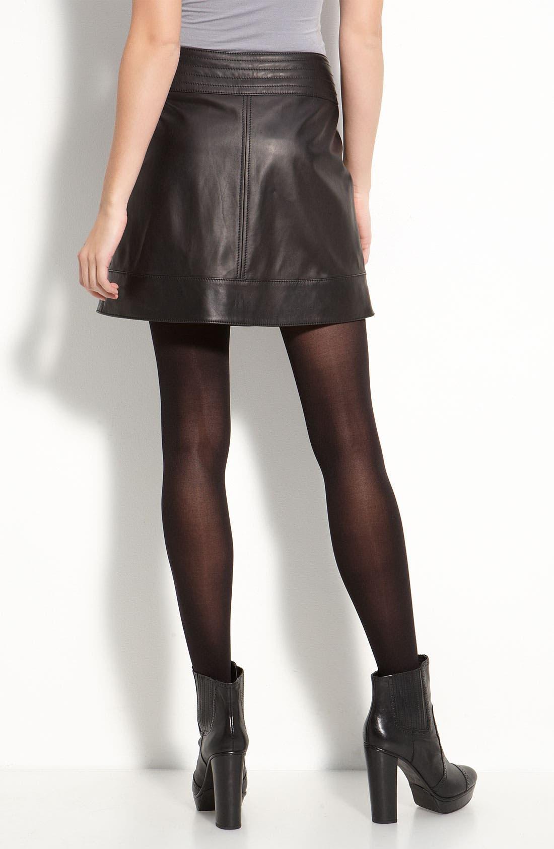 Main Image - Trouvé Lambskin Leather Miniskirt