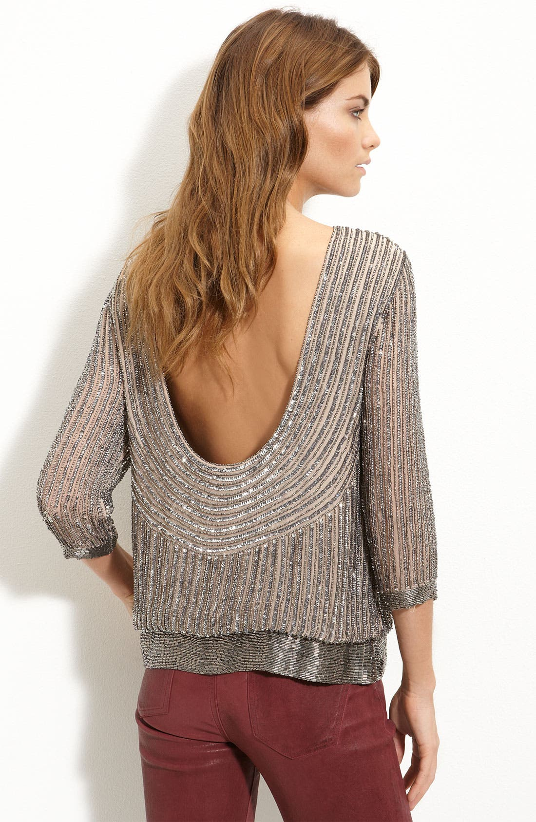 Alternate Image 2  - Parker Sequin Open Back Blouse