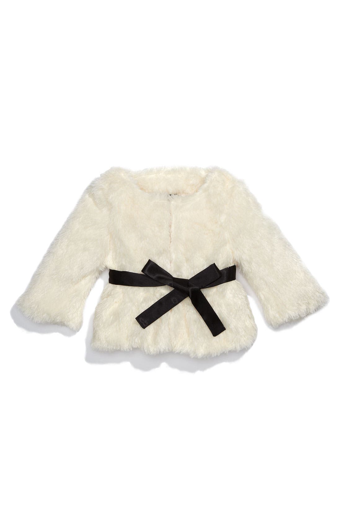 Alternate Image 1 Selected - Paper Doll Faux Fur Jacket (Little Girls)
