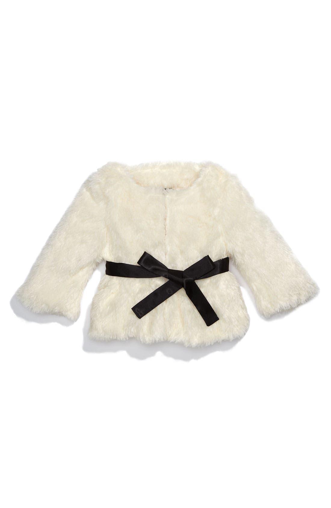 Main Image - Paper Doll Faux Fur Jacket (Little Girls)