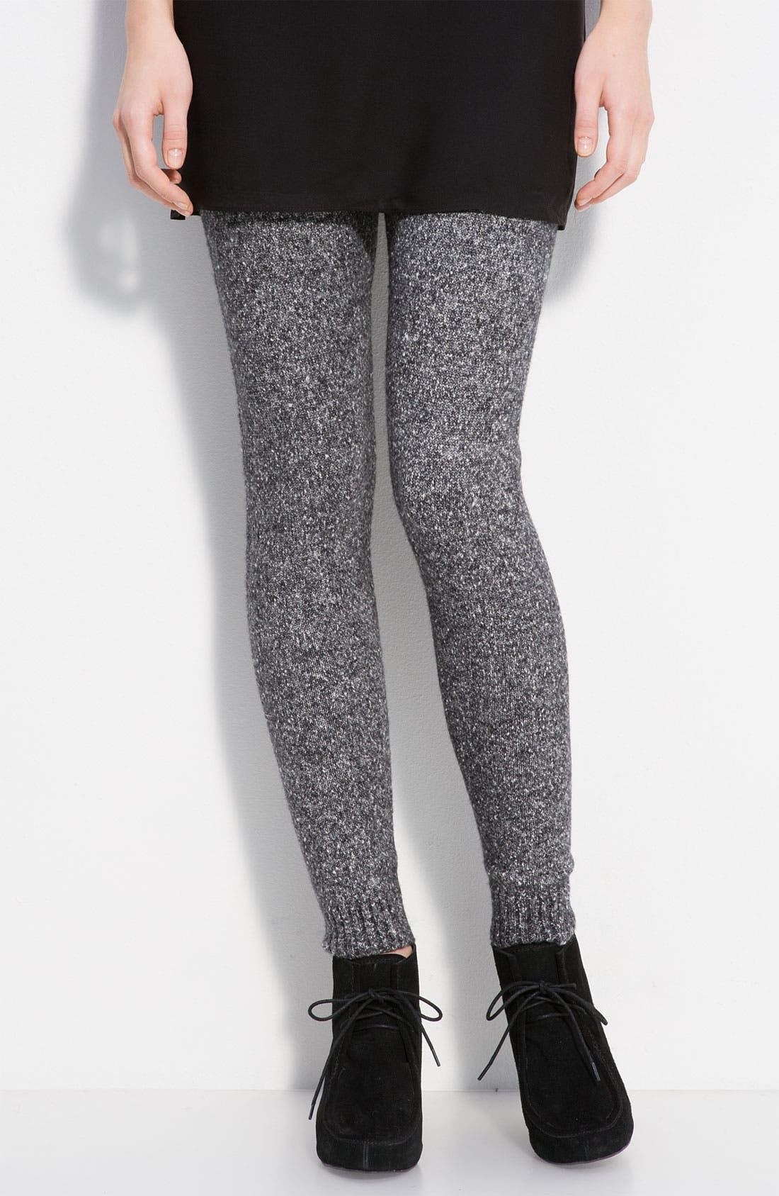 Alternate Image 1 Selected - Hue Tweedy Bouclé Sweater Leggings