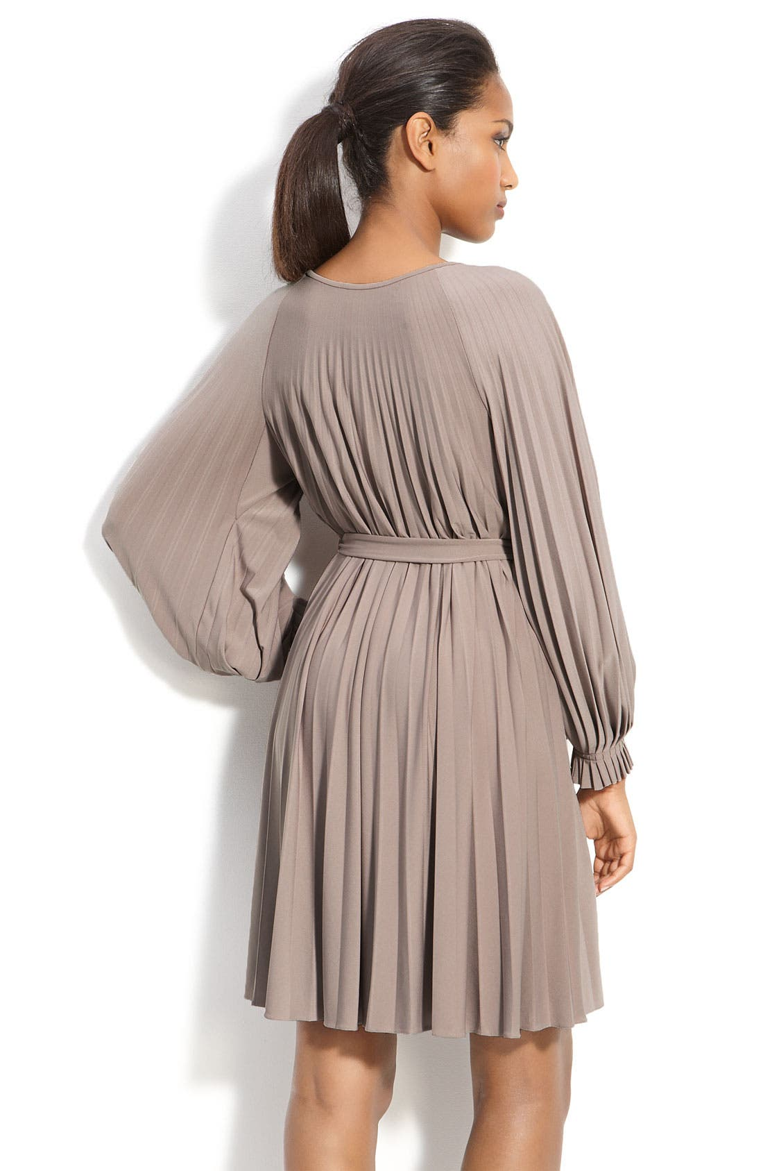 Alternate Image 2  - Donna Morgan Sunburst Pleat Jersey Dress