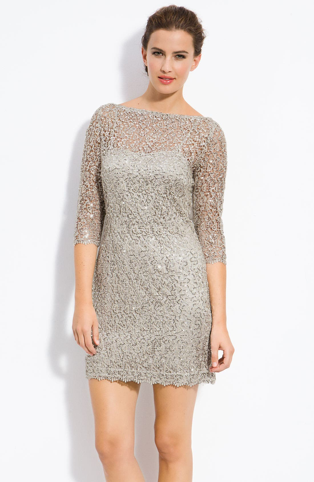 Main Image - Kay Unger Sequin Lace Sheath Dress