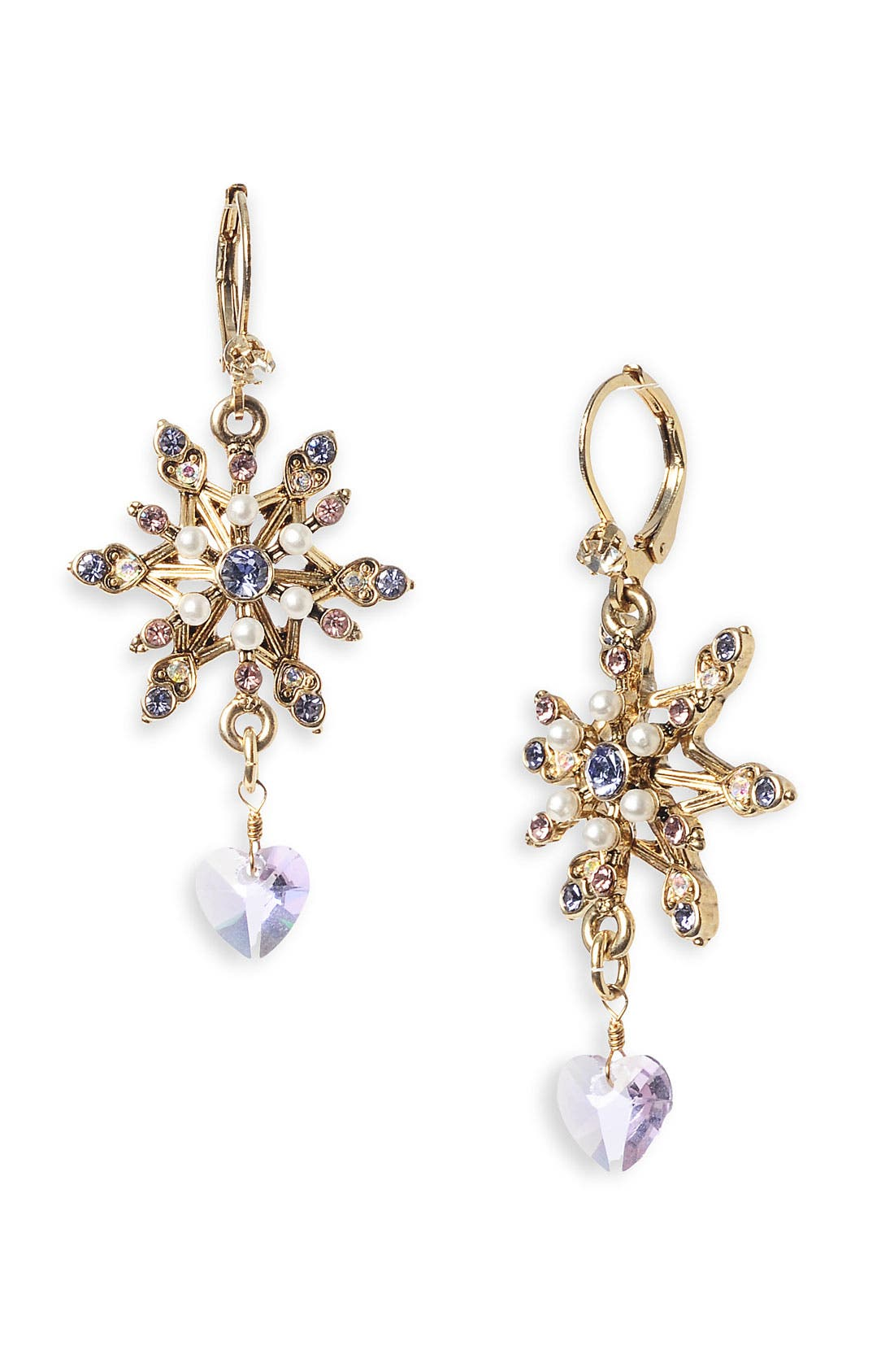 Main Image - Betsey Johnson 'Tzar' Snowflake Drop Earrings