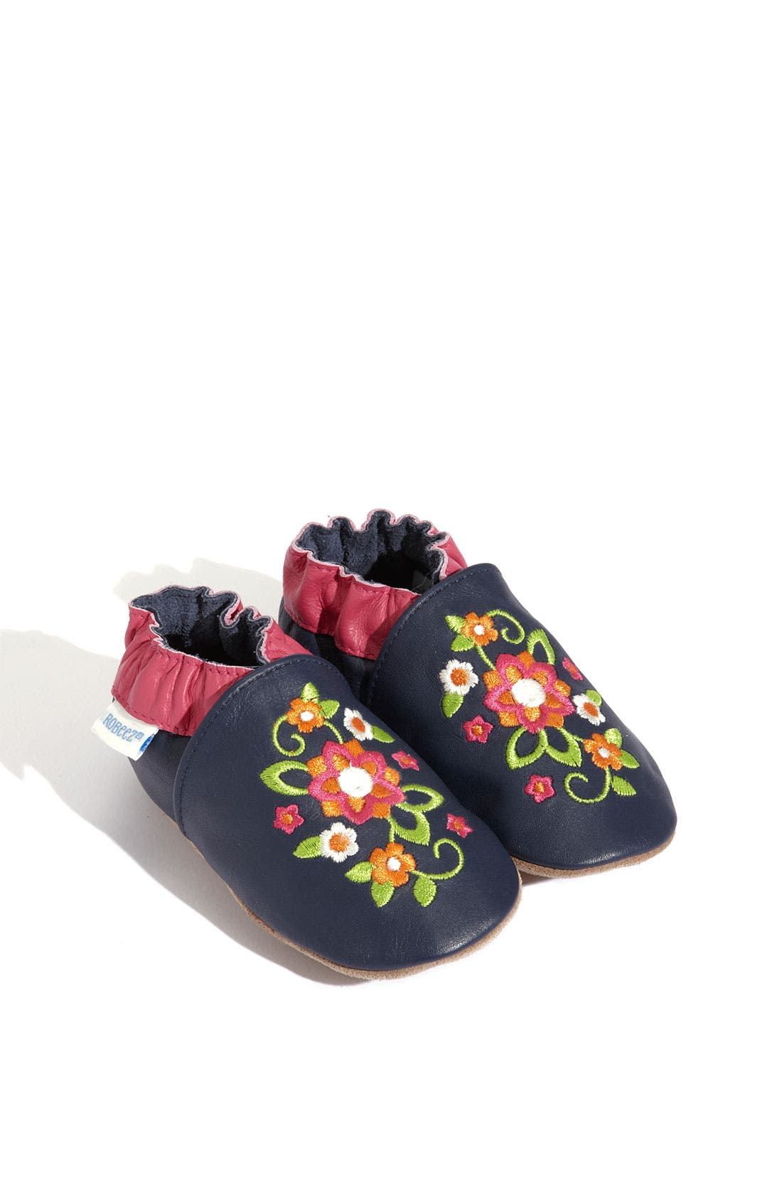 Main Image - Robeez® 'Elegant Blossom' Slip-On (Baby & Walker)