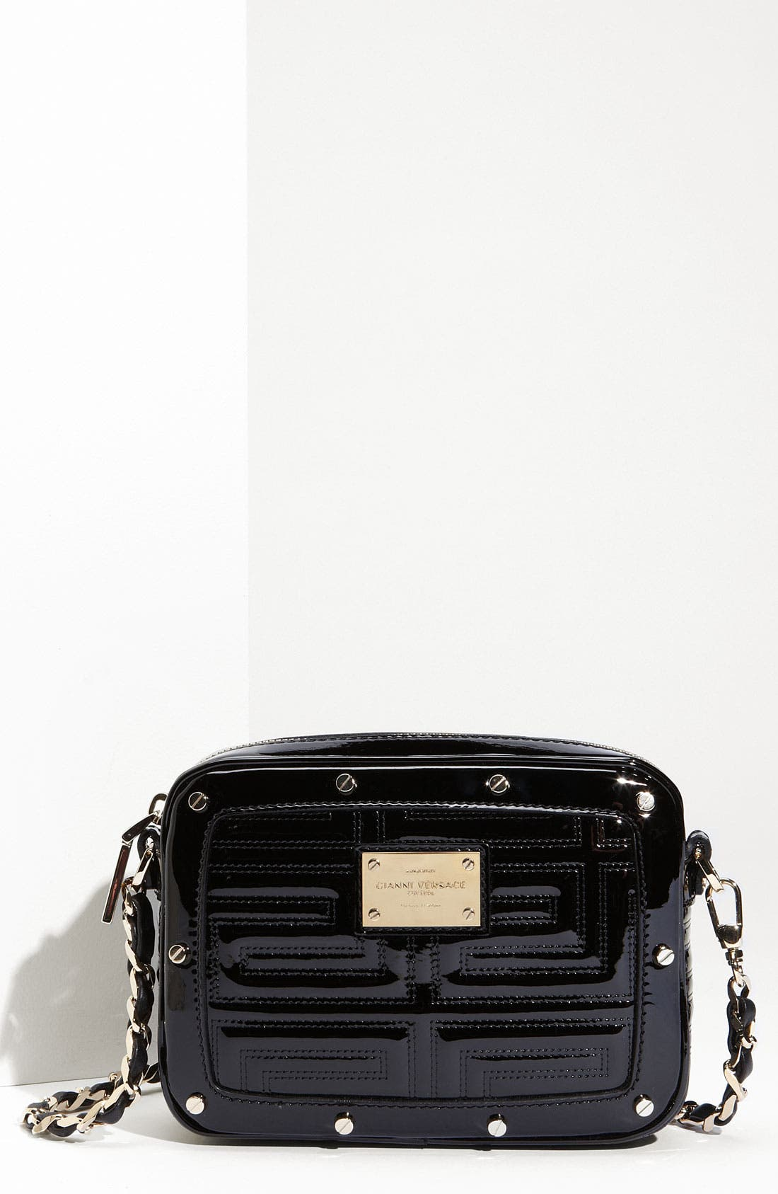 Alternate Image 1 Selected - Versace 'Couture' Patent Leather Crossbody Bag