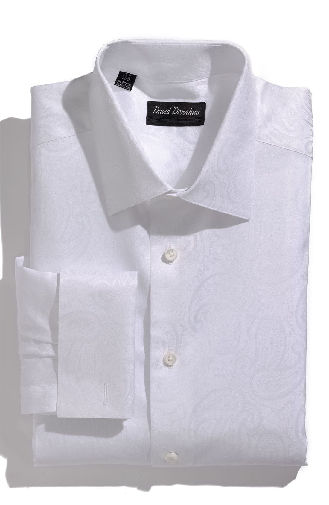 Alternate Image 1 Selected - David Donahue Regular Fit Tuxedo Shirt