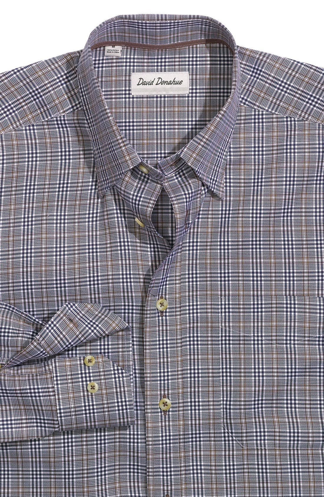 Alternate Image 1 Selected - David Donahue Woven Sport Shirt