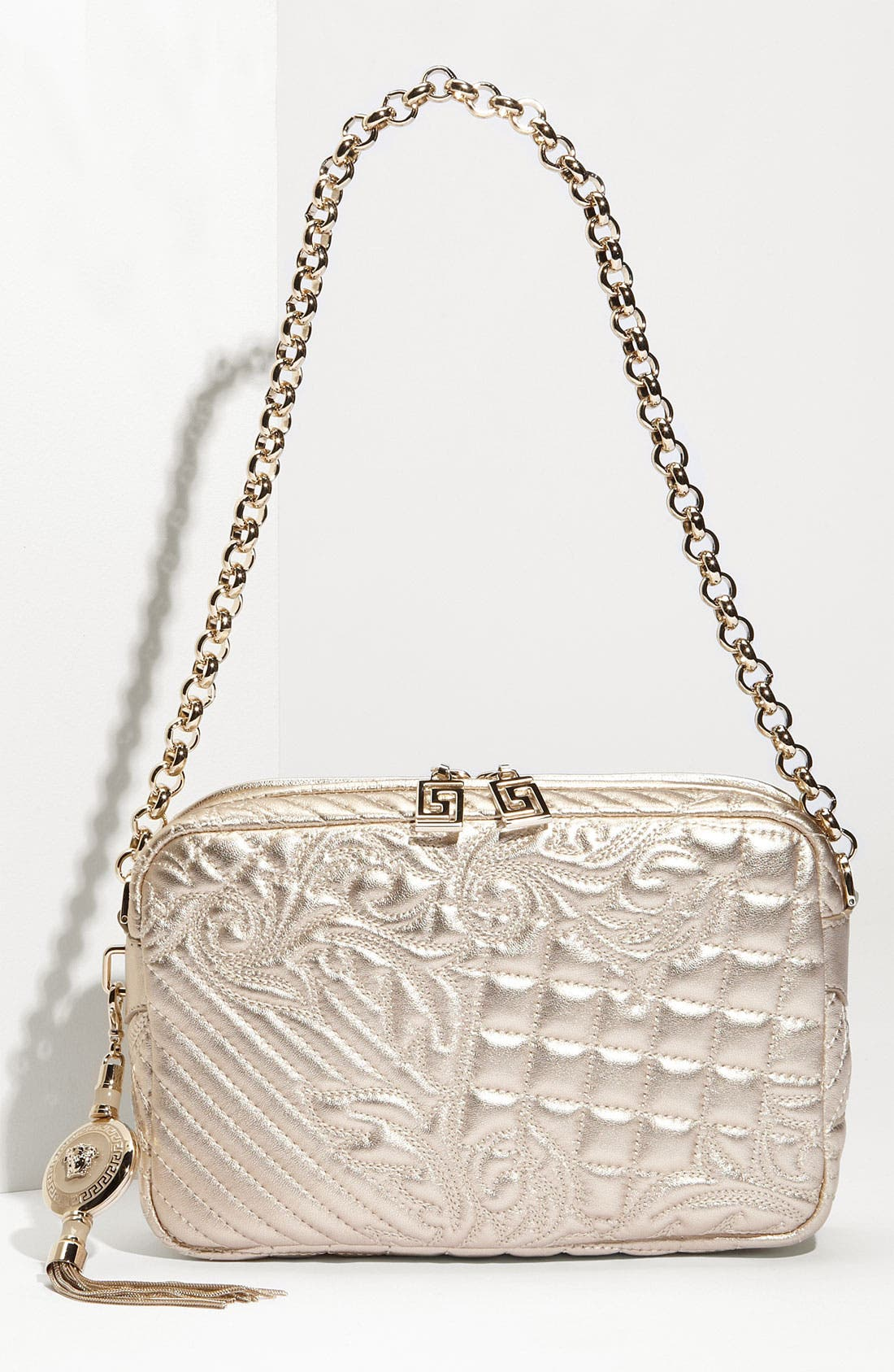 Main Image - Versace 'Vanitas' Embroidered Leather Shoulder Bag