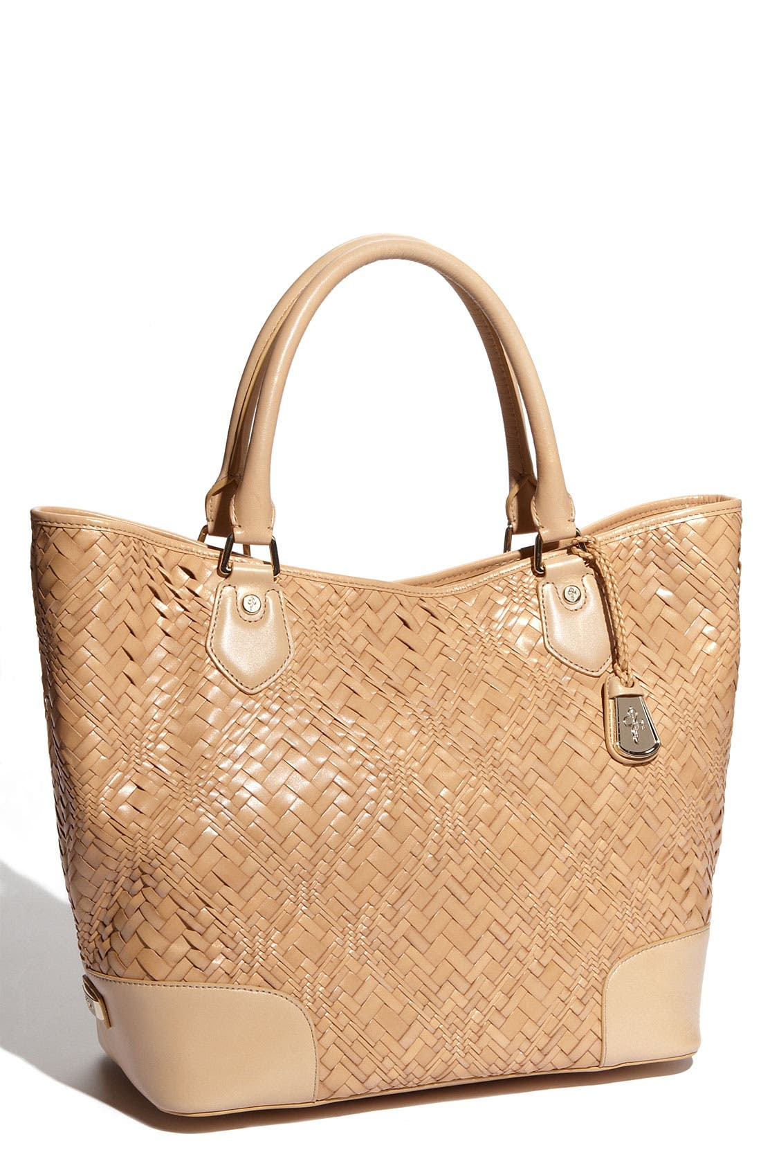 Alternate Image 1 Selected - Cole Haan 'Optical Weave' Triangle Tote