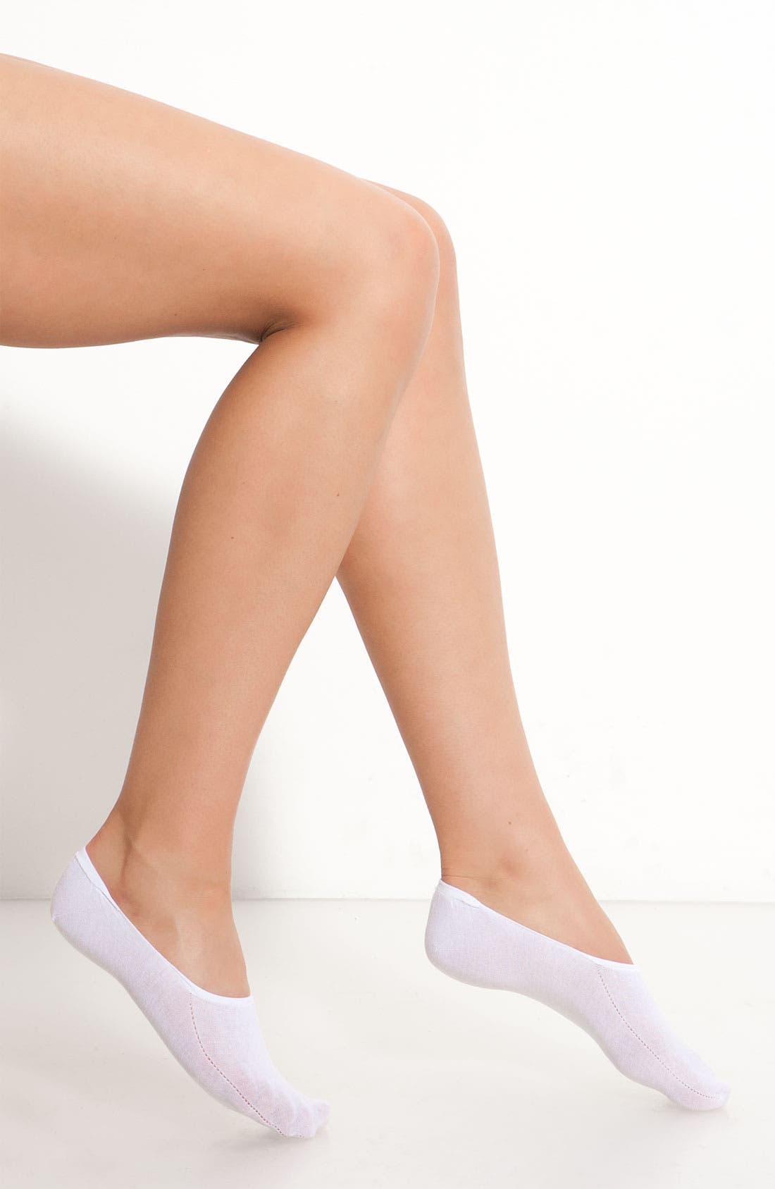 Main Image - Hue High Cut Liner Socks