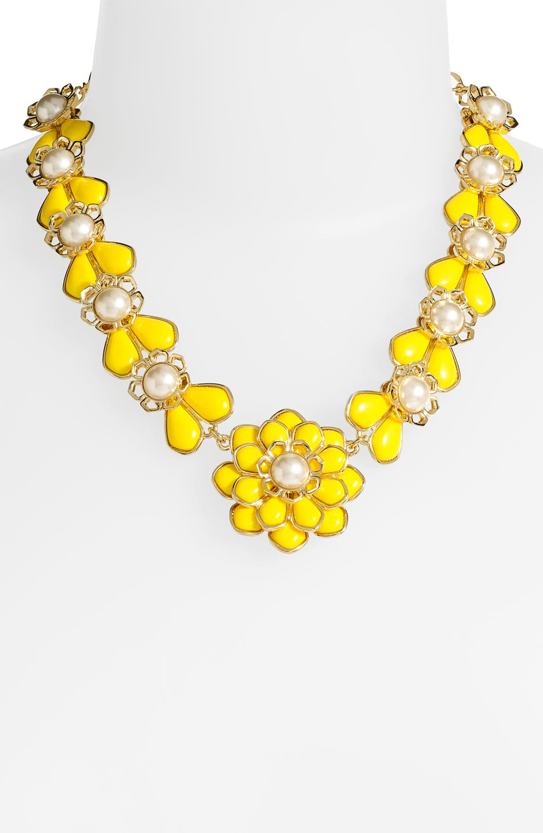 Alternate Image 1 Selected - kate spade new york 'sweet zinnia' floral pendant necklace