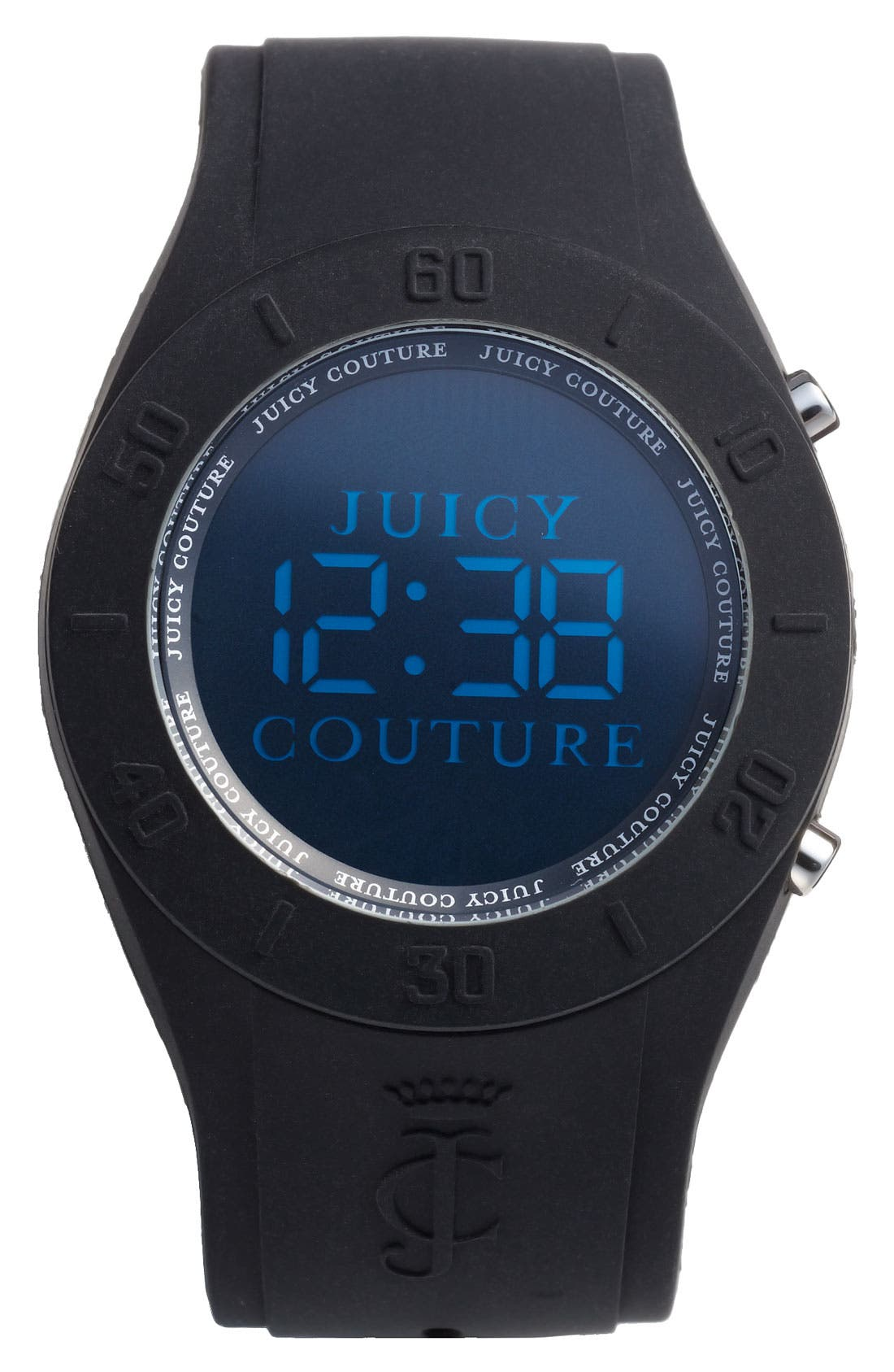 Main Image - Juicy Couture 'Sport Couture' Digital Jelly Strap Watch