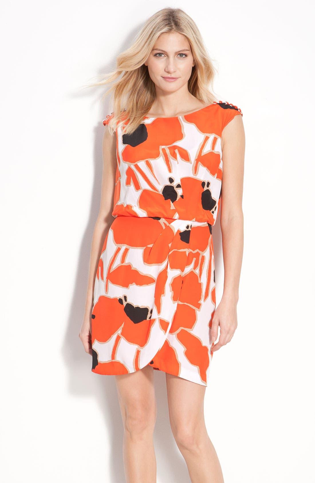 Alternate Image 1 Selected - Jessica Simpson Button Detail Pleat Front Dress