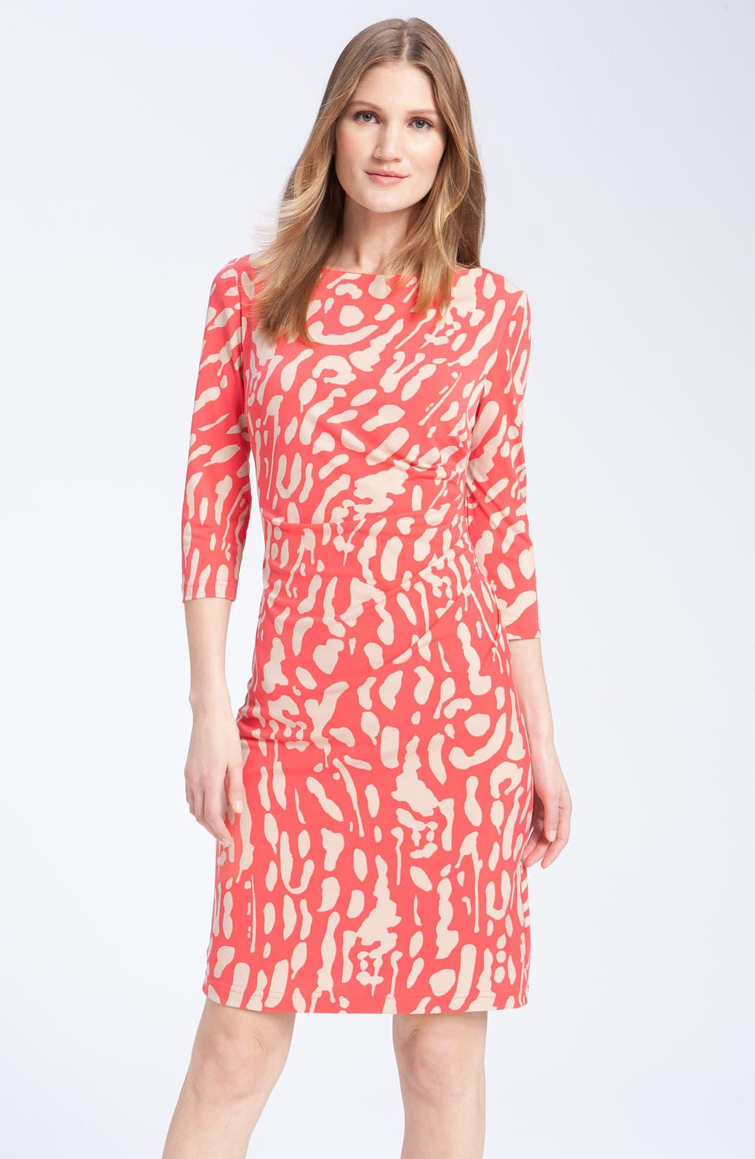 Alternate Image 1 Selected - Eliza J Print Jersey Dress