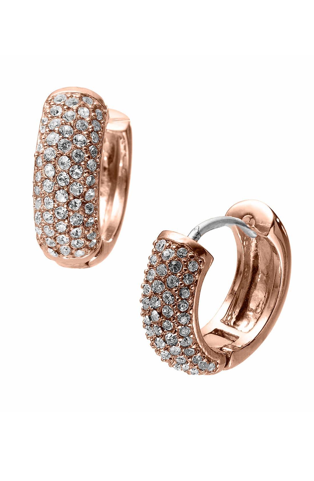 Alternate Image 1 Selected - Michael Kors 'Spring Sparkle' Hoop Earrings