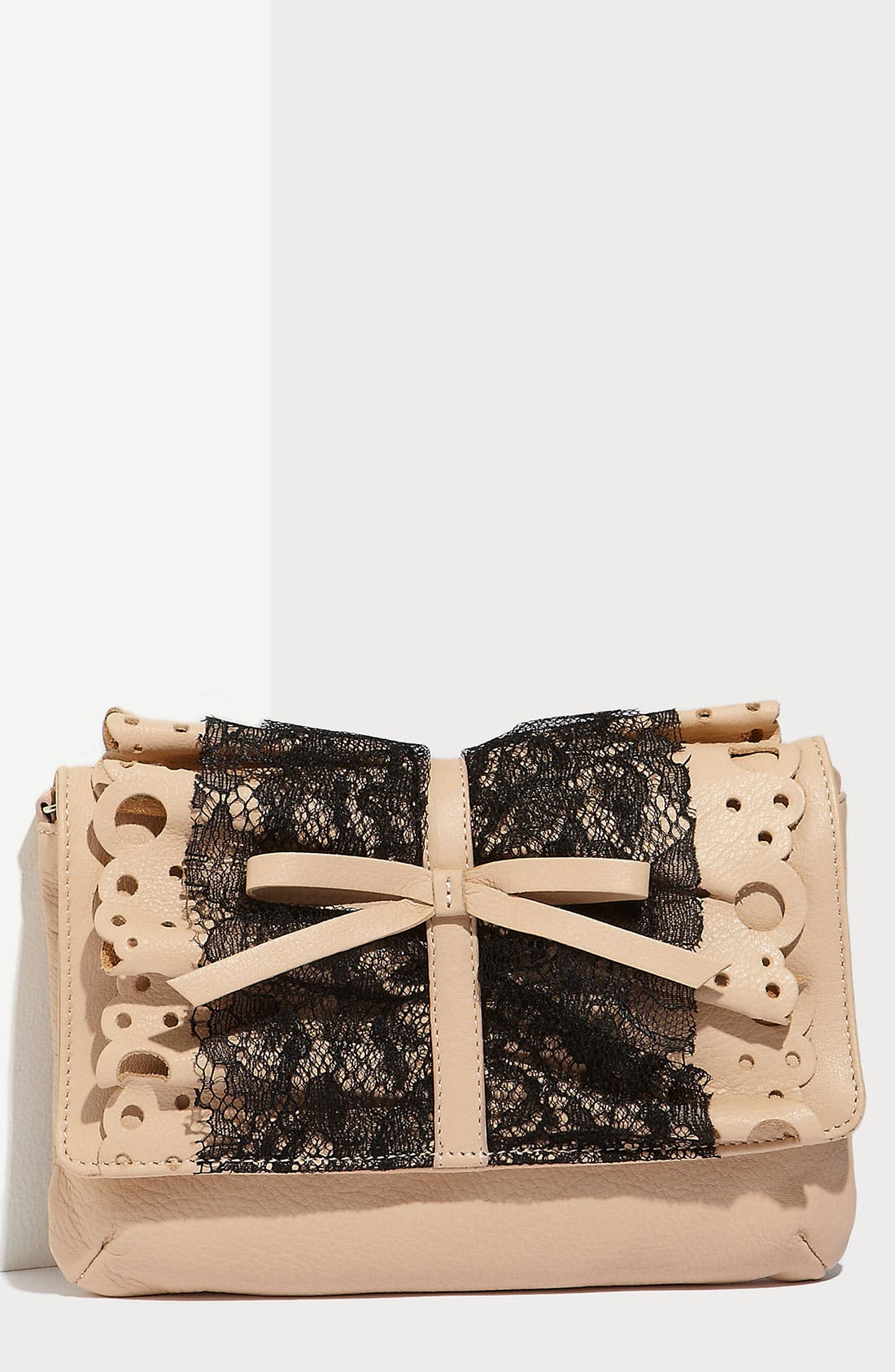 Alternate Image 1 Selected - RED Valentino 'Lace Ruffle' Clutch